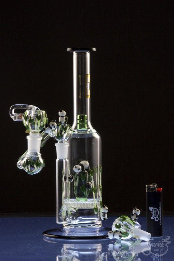 "Empire Glassworks ""Panda Grove"" Concentrate Rig with Matching Quartz Nail and Carb Cap - Empire Glassworks ""Panda Grove"" Concentrate Rig with Matching Quartz Nail and Carb Cap"
