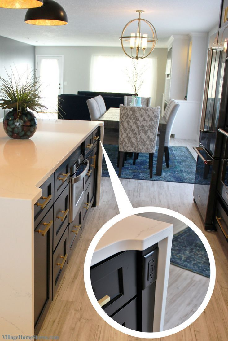 Quad Cities Black White And Gold Kitchen Remodel Village Home