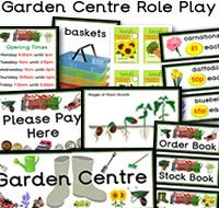 Garden Centre Role Play Resources. There are many great Garden Centre  themed role play resources available to download, such as packets of seeds sheets, price lists,  Grass themed display letting, stages of plant growth poster, themed borders and much more. For more of these resources please check out our site.