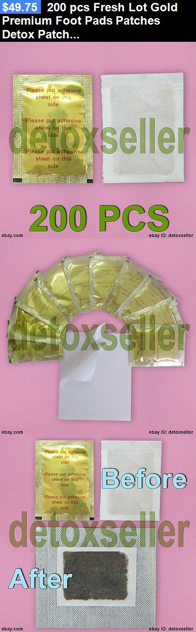 Detox Pads: 200 Pcs Fresh Lot Gold Premium Foot Pads Patches Detox Patches + 200 Adhesives BUY IT NOW ONLY: $49.75