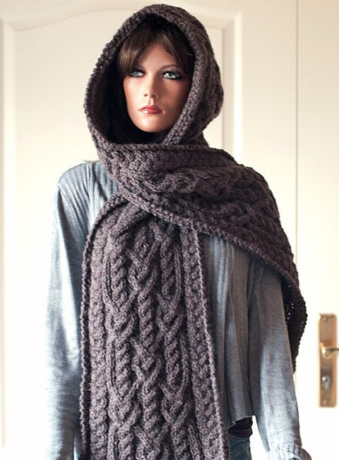 Pattern for Hooded Scarf Ingrid by fashionworks on Etsy