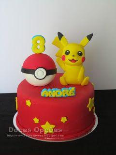 Doces Opções: O Pikachu no 8º aniversário do André