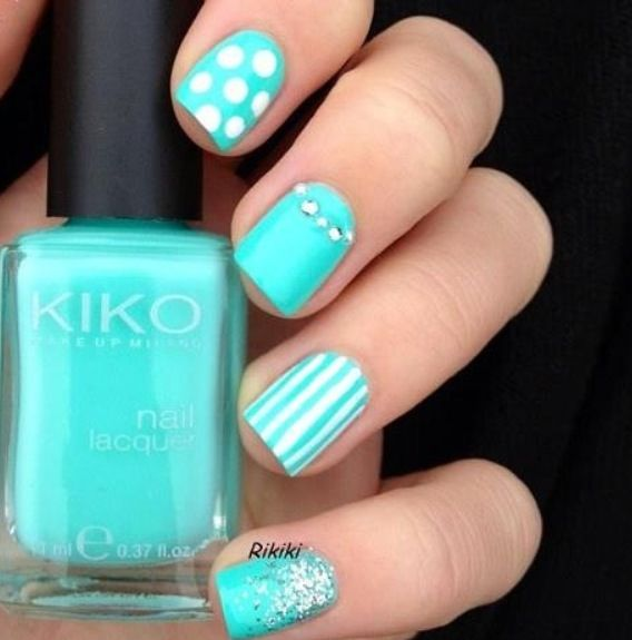 Tiffany Blue Nail Art: 17 Best Images About Nail Design On Pinterest