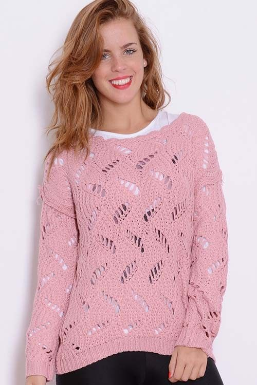 Sweater Calado Liso | Embrujo Jeans