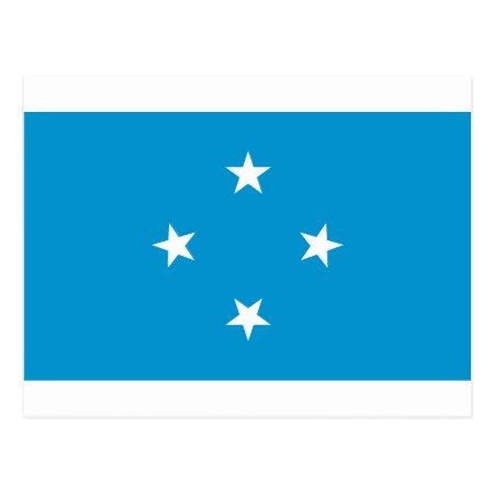 Low Cost! Federated States of Micronesia Flag Postcard - tap, personalize, buy right now!