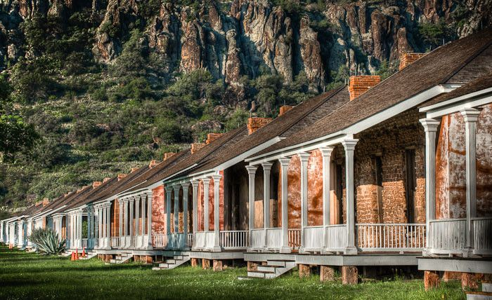 Fort Davis located in the Davis mountains of the Big Bend area...partially restored