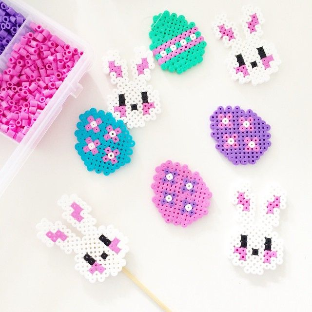 Easter decorations perler beads by englaskreativeverden