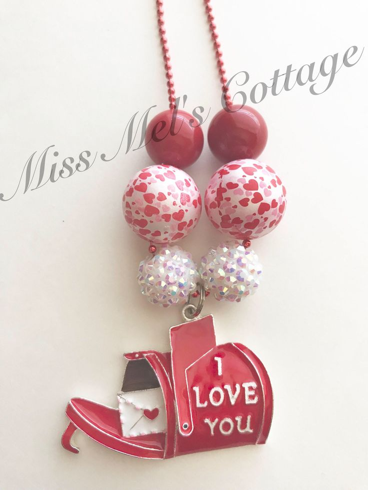 A personal favorite from my Etsy shop https://www.etsy.com/listing/587844689/valentine-i-love-you-red-mailbox-chunky