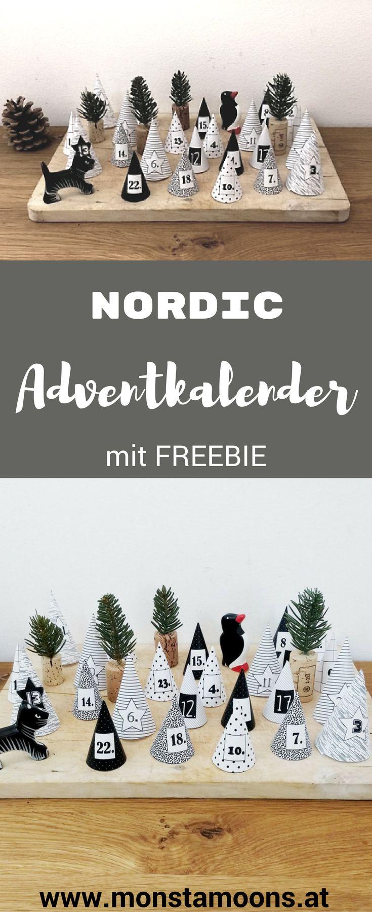 Adventkalender bastelnen, DIY Adventskalender, nordic Adventkalender, Basteln für Weihnachten