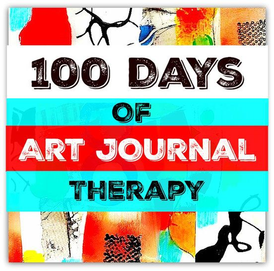 100 Days of Art Journal Therapy - The Art of Emotional Healing