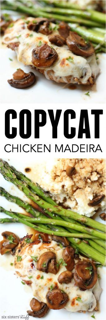Chicken Madeira Cheesecake Factory Copycat Recipe from SixSistersStuff.com   A cheesy, delicious family favorite using ingredients you have on hand!