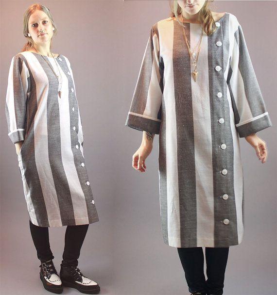 Vintage 80's Dress Cardigan Duster 3/4 by BadassVintageRevival