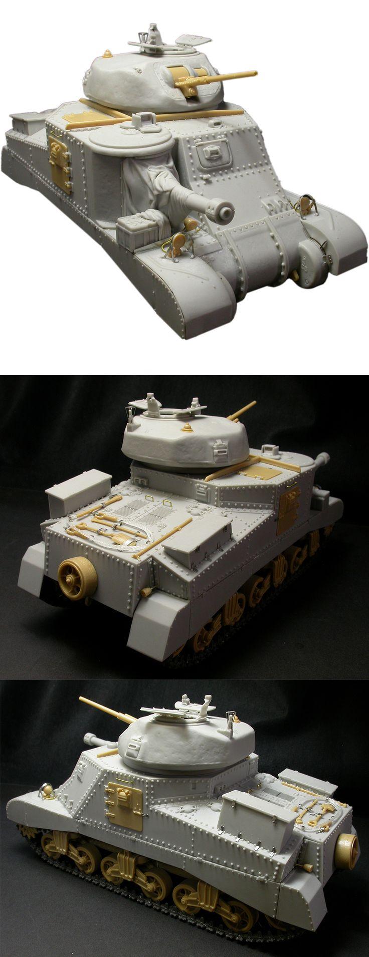 1/35 resincast model WWII M3A5 Upper Hull & Grant Turret