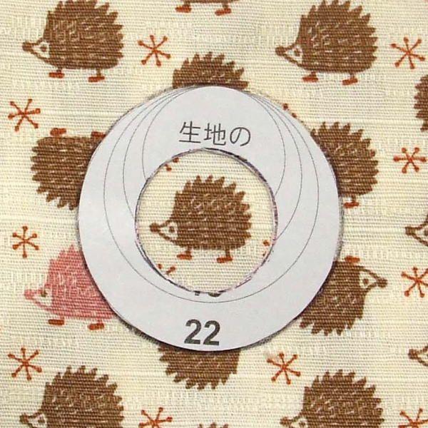 くるみボタンの作り方・1(押し込むタイプ)(3)