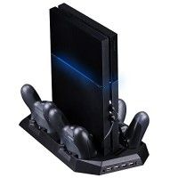 SmaAcc Vertical Stand Dual Cooler Fans For PS4 Playstation 4 Console + Four Charging Stations for DualShock4 PS4 Controllers - Best Cooling and Charging System for PS4   If for any reason you are unhappy with any product by SmaAcc, please do not hesitate to contact Kumu World. We take full ownership and Read  more http://themarketplacespot.com/video-game-consoles-accessories/smaacc-vertical-stand-dual-cooler-fans-for-ps4-playstation-4-console-four-charging-stations-for-dualsh
