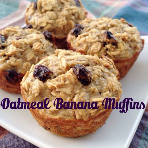 Oatmeal Banana Muffins - These Little Moments