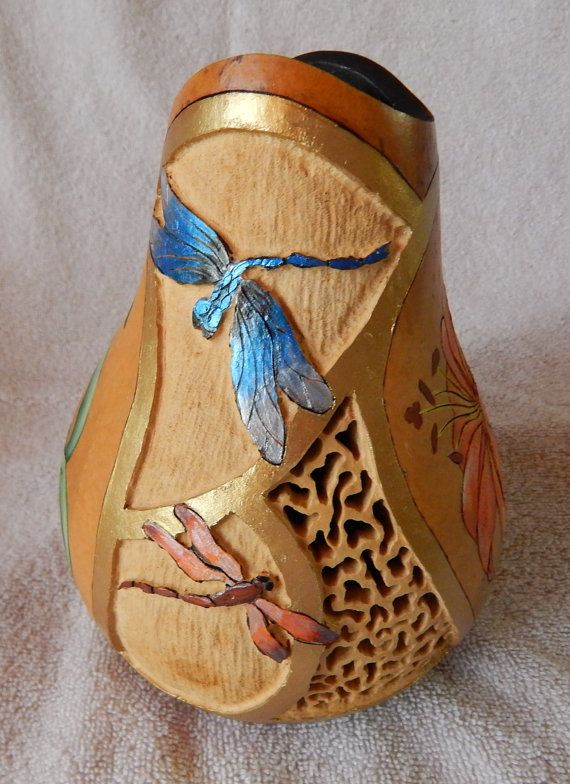 Best images about carving gourds on pinterest