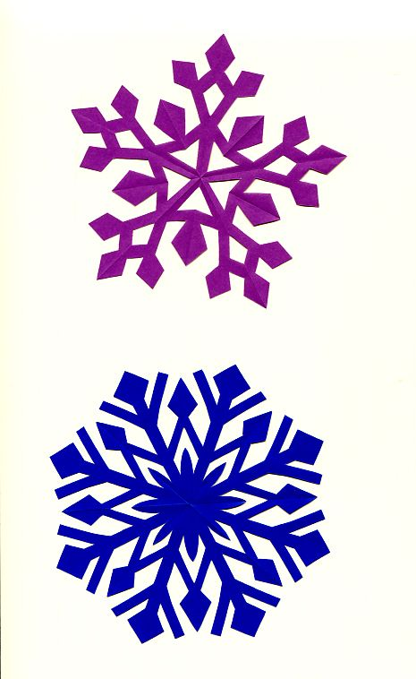 snow crystal. Japanese kirigami art.  By Syandery.