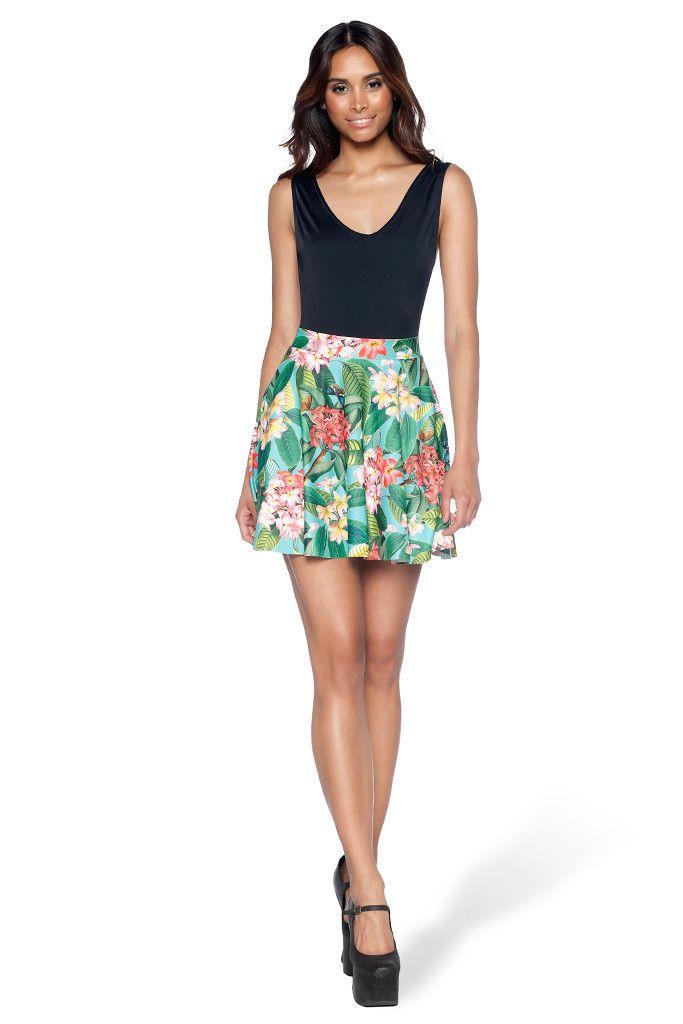 Frangipani Pocket Skater Skirt - LIMITED – Black Milk Clothing
