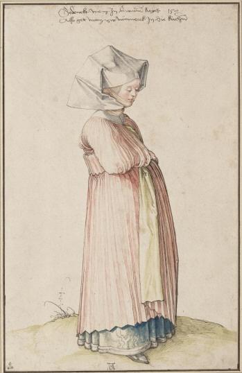 Nürnbergerin im Kleid für den Kirchgang  Datierung:1500  From Gallery.albertina.at