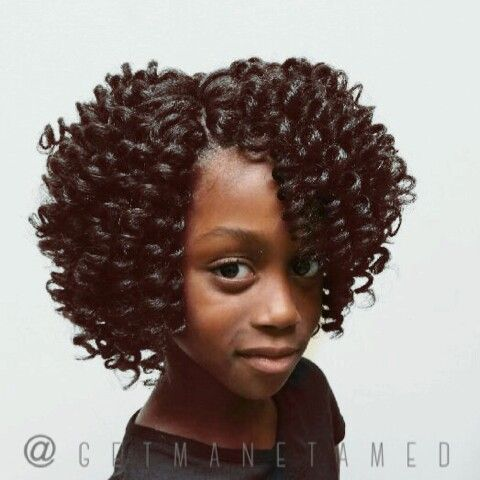 Crochet Hair For Kids : Kids crochet braids with marley hair. I precurled the hair before ...