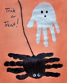 Handprint Spider and Ghost