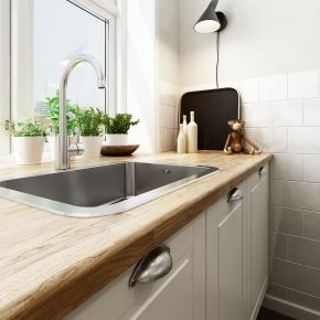 I piani di lavoro in legno - massello  http://www.lacasarubata.it/dove-si-mangia/piani-di-lavoro-cucine/