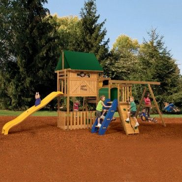 10 best wooden swing sets for your backyard playstar great bronze escape playground equipment