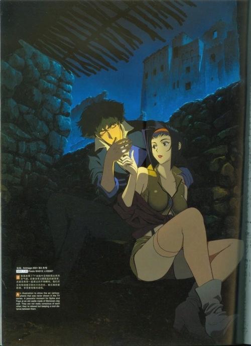 Cowboy Bebop...anime usando géneros de cine, ¡perfecta en todo sentido! El soundtrack es otro de sus puntos fuertes...