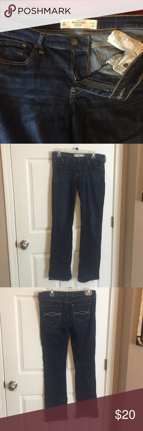 Abercrombie and Fitch boot cut jeans Super comfy jeans! Good used condition! Abercrombie & Fitch Jeans Boot Cut