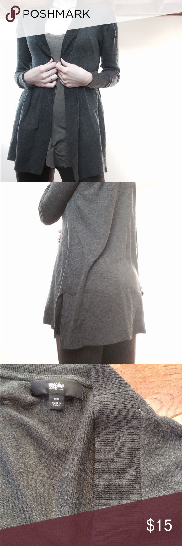 Charcoal oversized cardigan Really comfy oversized cardigan. Easy to wrap up in and be cozy or throw on for a more put together look. Massimo Sweaters Cardigans