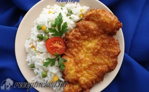 Sajtos-kukoricalisztes bundában sült csirkemell recept fotóval