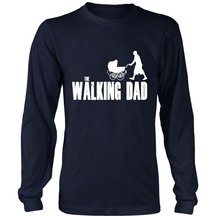 The walking #dad - Long Sleeve Shirt