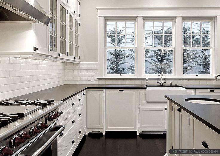 Dark Green Kitchen Cabinets Butcher Block