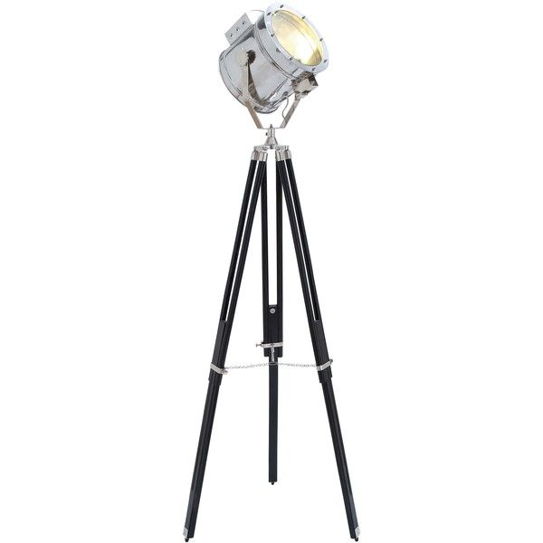 Aluminum Studio Spotlight Floor Lamp ($280) ❤ liked on Polyvore featuring home, lighting, floor lamps and silver