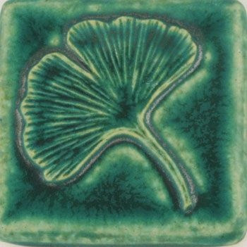 Pewabic Pottery - I almost bought this tile. Love Ginko leaves and love Pewabic