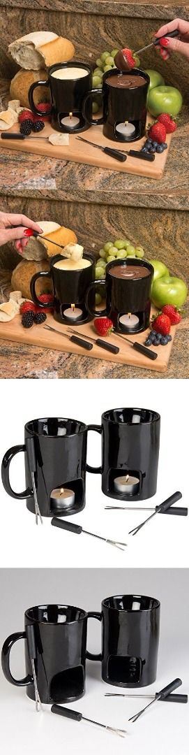 Is there fondue lovers? The perfect mug set matches with everything in your kitchen since it made with minimalism and comes in two colors