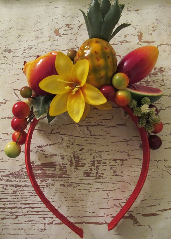 Tropical Fruits Headband Carmen Miranda style by olgadesigns, $24.00