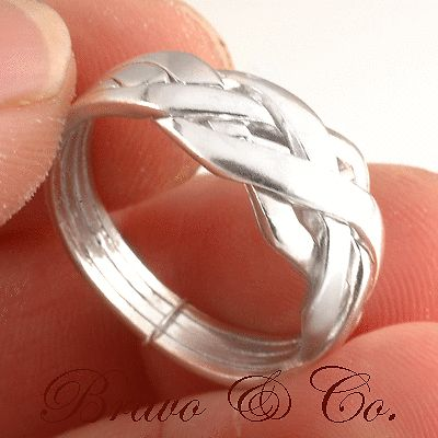 Size 10 Finely Made Solid 925 Sterling Silver 4 pieces NEW PUZZLE Ring R-025