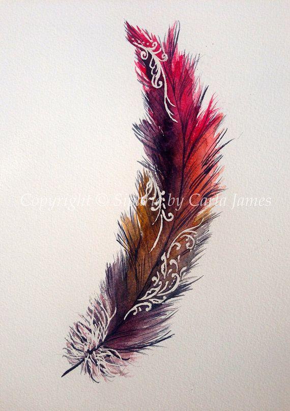 Conception de la plume avec motifs Hennés                                                                                                                                                     Plus