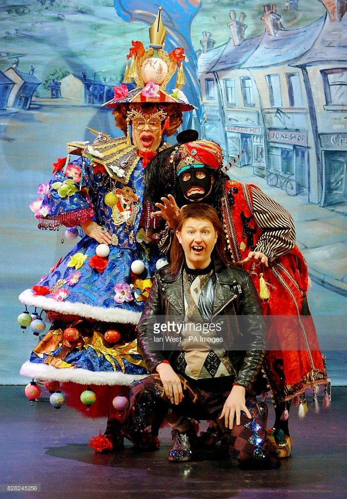Steve Pemberton, Reece Shearsmith (centre) and Mark Gatiss (front) are seen in the pantomime production of 'The League Of Gentlemen 'Are Behind You'', at the Hammersmith Apollo, west London, Thursday 1 December 2005. PRESS ASSOCIATION PHOTO. Photo credit should read: Ian West/PA