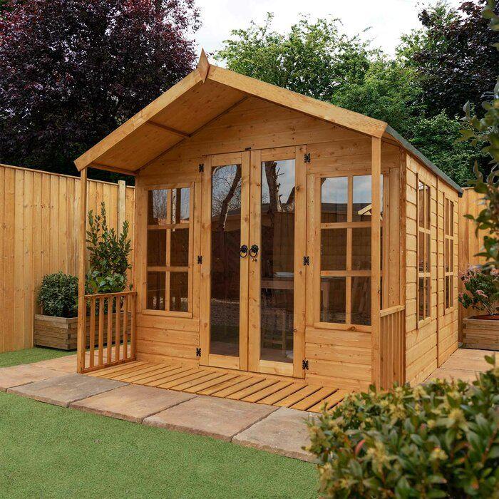 Sol 72 Outdoor Norvell 8 X 8 Ft Shiplap Summer House Reviews Wayfair Co Uk Corner Summer House Summer House Shiplap Cladding