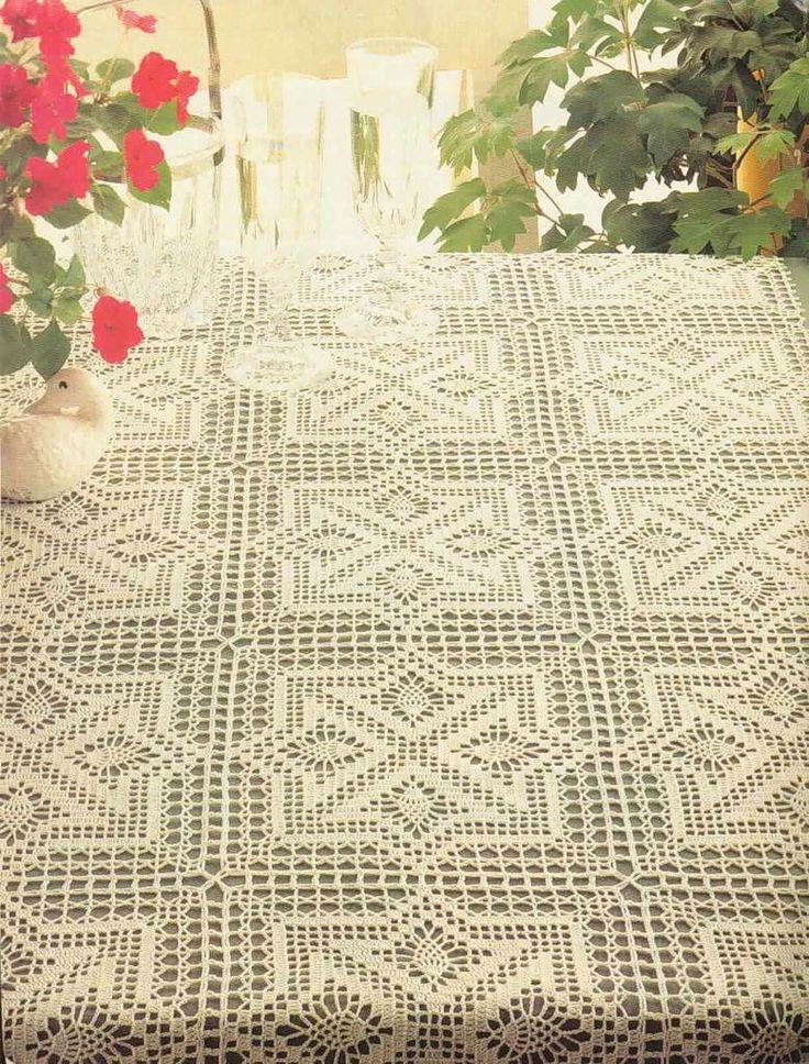 M s de 1000 im genes sobre crochet centro de mesa tapetes for Tapete mesa