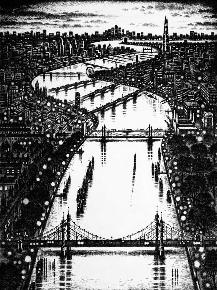 John Duffin's THAMES BRIDGES EAST at the RA Summer Exhibition 2015