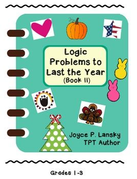 This booklet contains six matrix logic problems about holidays throughout the year all bundled into one bargain product. The holidays featured are Halloween, Thanksgiving, Christmas, Valentine's Day, Easter, and American Independence Day. One can buy each logic problem individually for a dollar a piece; however, you will save money by buying in bulk.