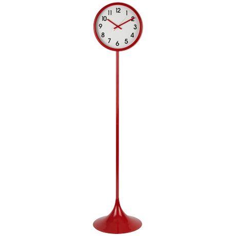Red lollipop clock