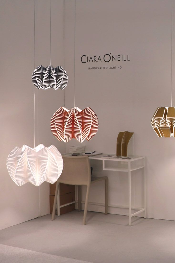 """The """"Vault"""" pendant lamp by Ciara O'Neill at the London Design Festival 2017."""