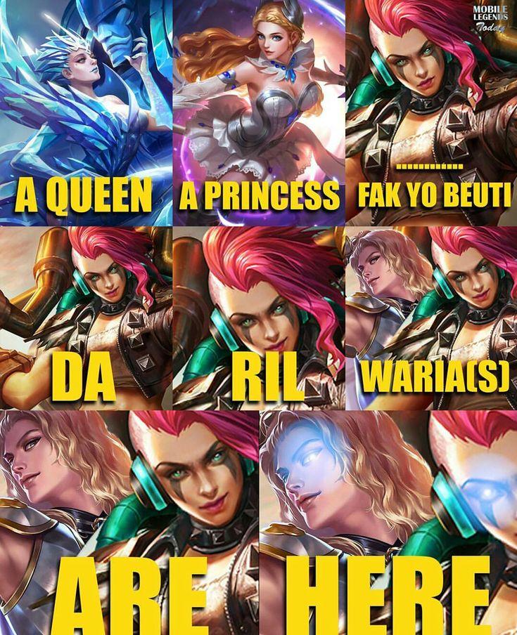 Gambar Meme Lucu Mobile Legends Download DP BBM Kocak