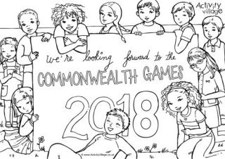 Commonwealth Games 2018 Colouring Page