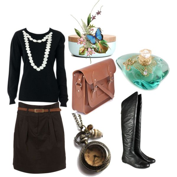 Winter me by kikajit on Polyvore featuring Louche, MARC BY MARC JACOBS, The Cambridge Satchel Company, When Objects Work and Lolita Lempicka